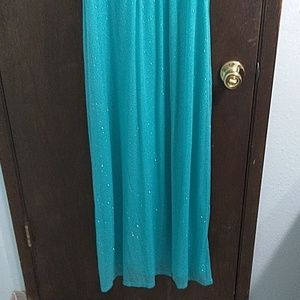 1c94b35dd69 Sweet Storm Dresses - Ross teal glitter dress